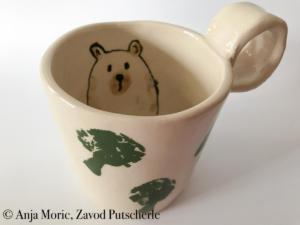 Bearies collection, Zavod Putscherle, brown bear, rjavi medved, Kočevska, Kočevsko, keramika, ceramics, handmade
